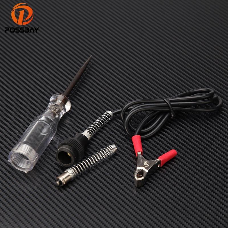 POSSBAY DC 6V-24V Electrical Circuit Voltage Probe Tester Pen Electroprobe For Car Electronic Circuit Voltage Tester Repair Pen
