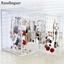 Купить с кэшбэком New Fasion PS Material Jewelry Display Holds Up Earrings Earring Holder And Jewelry Organizer Earring Showcase Stand Box