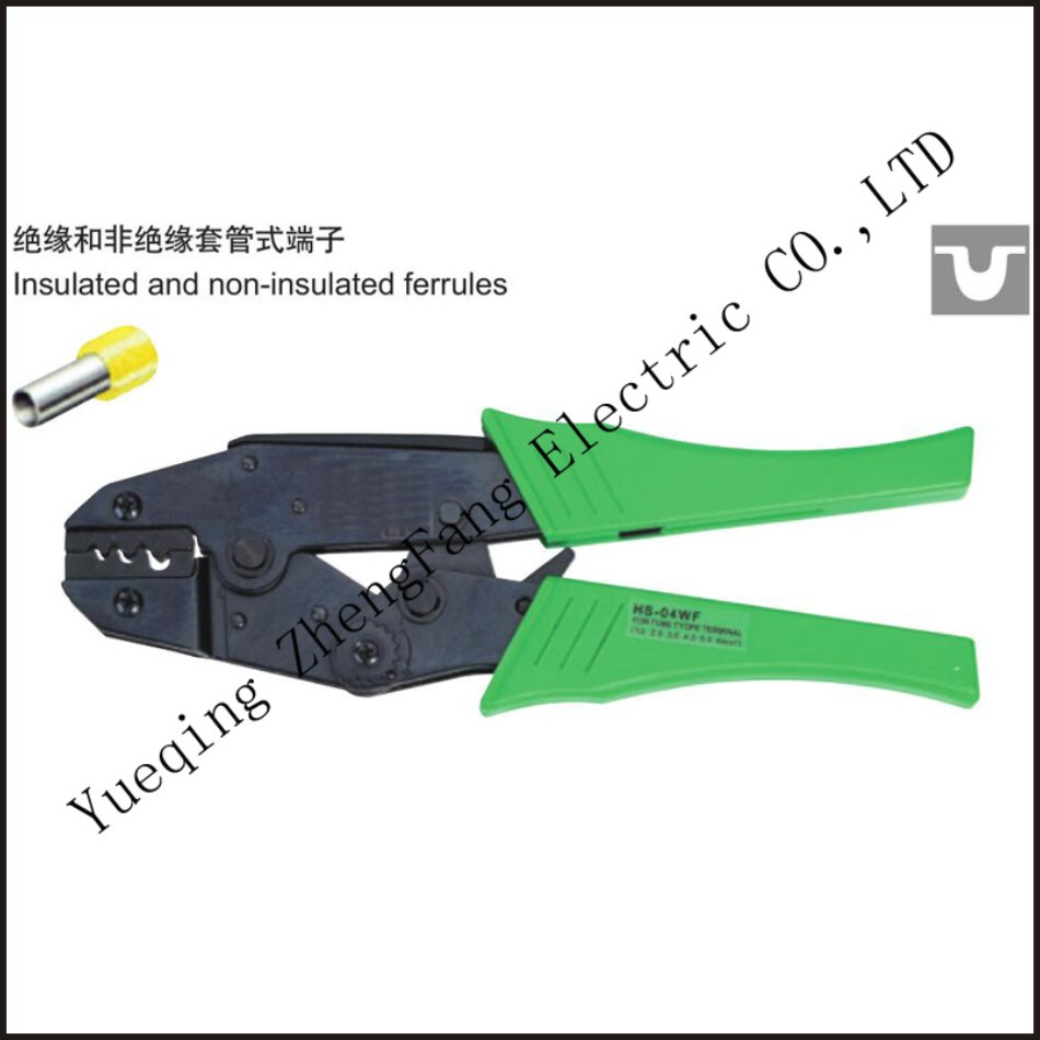 tool HS 04WF A W G 17 7 ratchet crimping plier european style insulated and non insulated ferrules length 230mm hand tool in Pliers from Tools