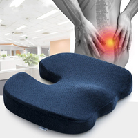 Gel Enhanced Seat Cushion Car Memory Foam Cooling Coccyx Orthopedic for Office Chair Driving Tailbone Back Pain Sciatica Relief