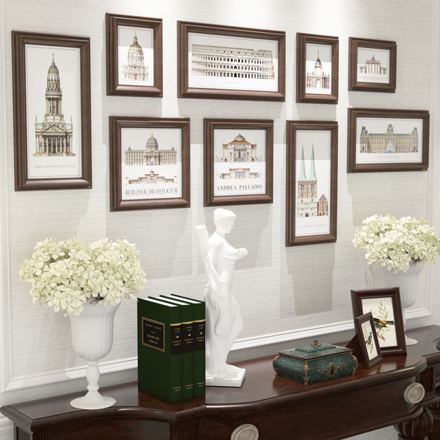 Vintage Picture Frames Setframes For Home Decorationmural Wall