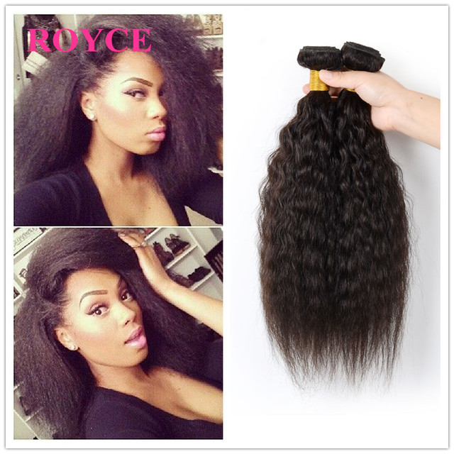 Royce Hair Company Brazilian Kinky Straight Weave Natural Looking