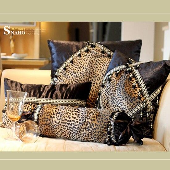Modern Leopard Print Sofa Cushion Case Cushion Cover 3pcs ...
