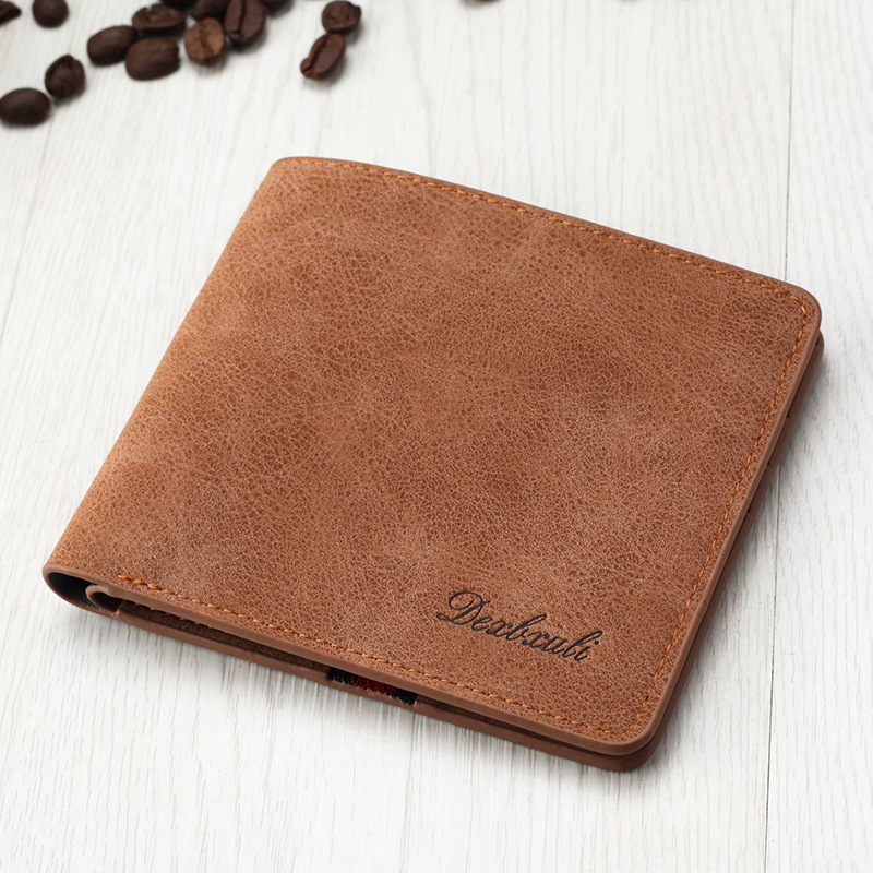 Fashion Casual Men Wallet Bifold Purse PU Leather Wallets Male Famous Brand Multifunctional Small Money Bag Credit Card Holder
