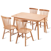 Обеденный стул из дерева в скандинавском стиле, стул для дома, современный американский простой стул для ресторана, кафе