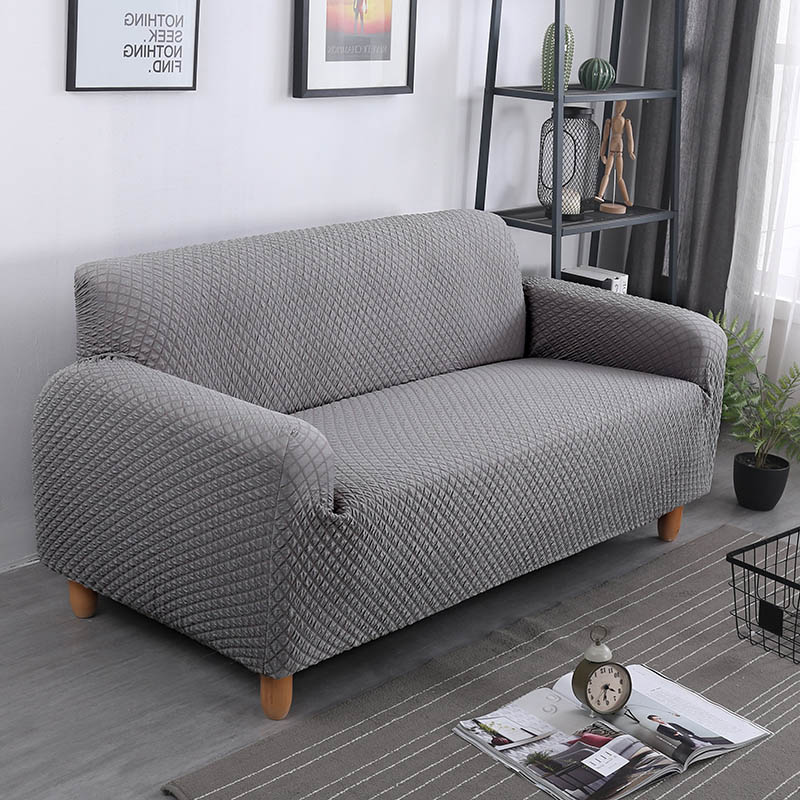 Blanket Sofa Cover: Elastic Fabric Thick Knit Sofa Covers For Living Room