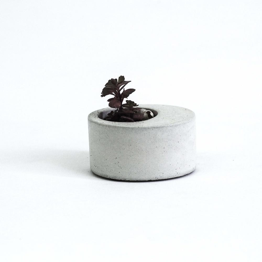 სილიკონის ჩამოსხები ოვალური ბეტონის ყვავილის ყვავილი მულტი - ხორცის ცემენტით 3D ქოთნები succulents მცენარეთა planter mold 3D ვაზა MOLD