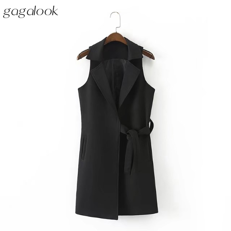 Popular Ladies Black Long Sleeveless Coats-Buy Cheap Ladies Black ...