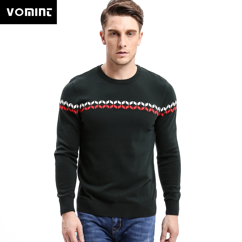 Vomint 2020 Mens Sweaters Pullovers O Neck Striped England Soilders Link Preppy Style Fashion Men Sweaterhirts O6VI6A79