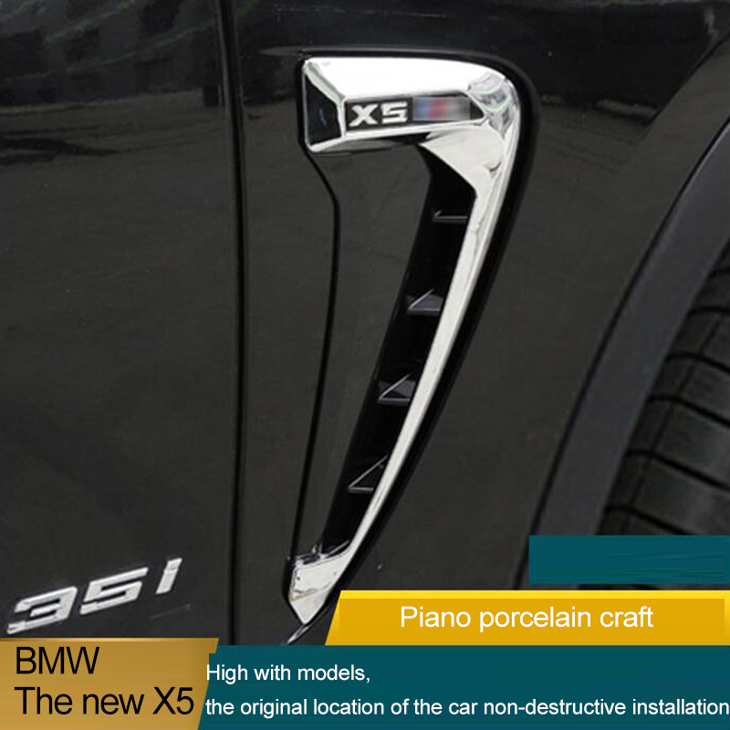 BMW F15-X5 X5 35I 2 Pcs Side Marker Fender Air wing Vent Trim M Cover For 2014