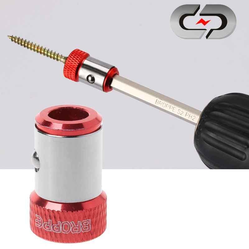 """1 adet tornavida uçları manyetik halka 1/4 """"6.35mm Metal güçlü Magnetizer vida"""