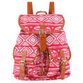 New 2017 Handmade Elepahnt Canvas Printing Backpack Women Drawstring Rucksack Bagpack Mochilas Feminina Sac A Dos Drawstring Bag