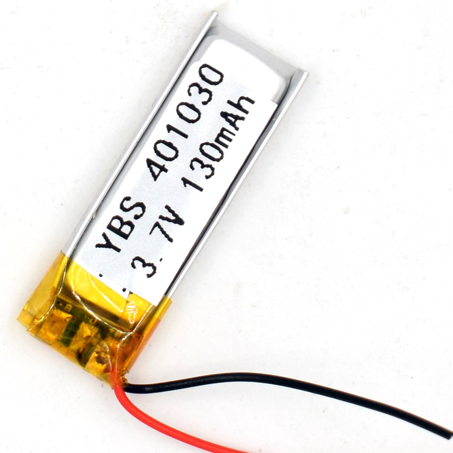 3 7V 130 mAh 401030 Li Polymer Rechargeable Battery Li Po ion for GPS Bluetooth MP3