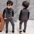 2016 New Children Suit Baby Boys Suits Kids Blazer Boys Formal Suit For Weddings Boys Clothes Set Kids Vest+Pants 2pcs 3-8Y