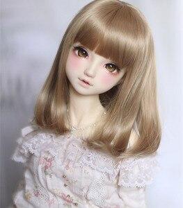 Image 3 - Perruques bouclées poire brun clair, fil haute température disponible pour 1/4 /1/3 poupées, BJD DD DY, accessoires de poupée