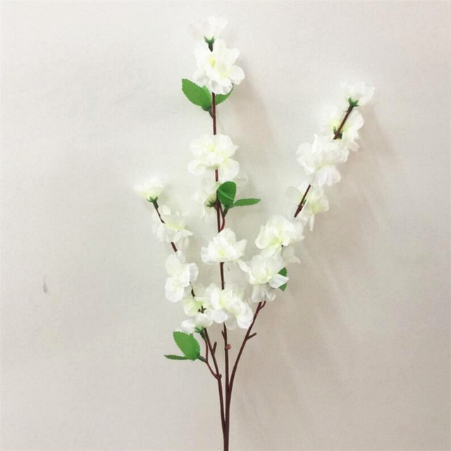 Plum artificial flower white peach blossom branch silk flower tree plum artificial flower white peach blossom branch silk flower tree for wedding party decors mightylinksfo