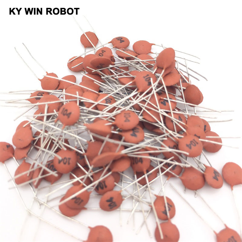 100PCS Ceramic Capacitor 50V 104 100nF 0.1uf