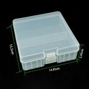 Image 2 - 1Pcs Draagbare Batterij Houder Organizer Voor 100 Stuks Aa Batterijen 14500 Batterij Case Cover Houder Opbergdoos Plastic Transparante