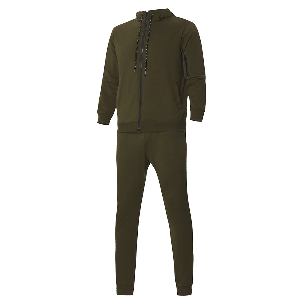 HTB1.FKeKpOWBuNjy0Fiq6xFxVXag 2019 fashion Patchwork Zipper Sweatshirt Top Pants Sets Sports Suit solid color slim Tracksuit High Quality Pullover clothing