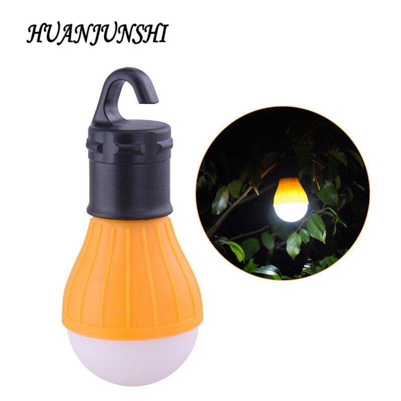4 Couleurs Portable Extérieur Suspendu 3led Camping Randonnée Tente Lampe De Poche Ampoule Pêche Lanterne Lampe Avec Aaa Batterie Nouveau