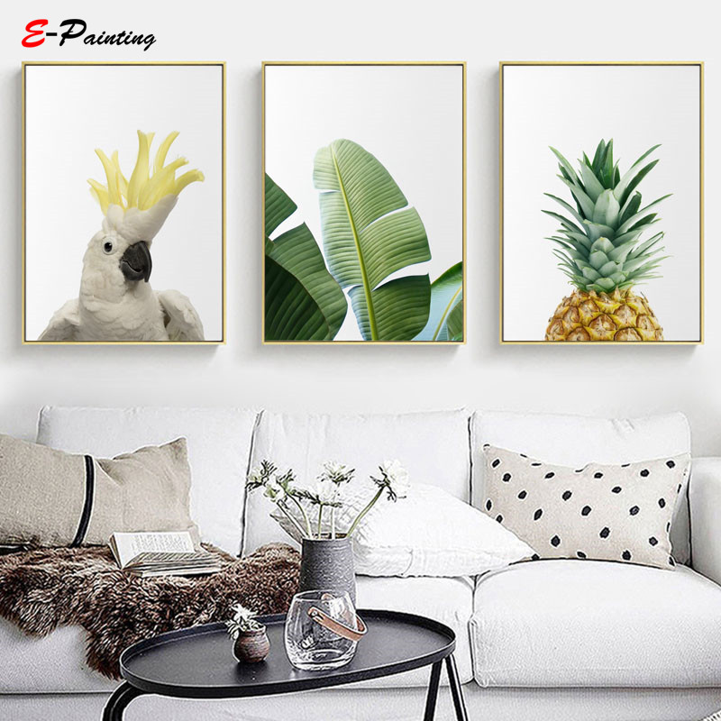 Modern Painting Canvas Tropical Wall