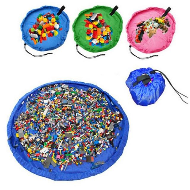 50 Cm Kids Kinderen Baby Spelen Mat Tapijt Tapijt Bad Speelgoed Opbergtas Box Organizer Mand Grote Capaciteit Deken Boxs Spelen Speelgoed