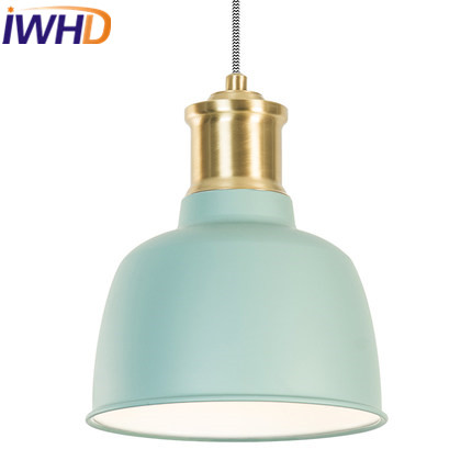 IWHD Iron Hanglamp Led Pendant Light Fixtures Modern Fashion Restaurant Living Room Pendant Lights Home Lighting Fixtures Lustre lamps fashion pendant light brief modern iron american living room lights restaurant lamp personalized lighting rustic