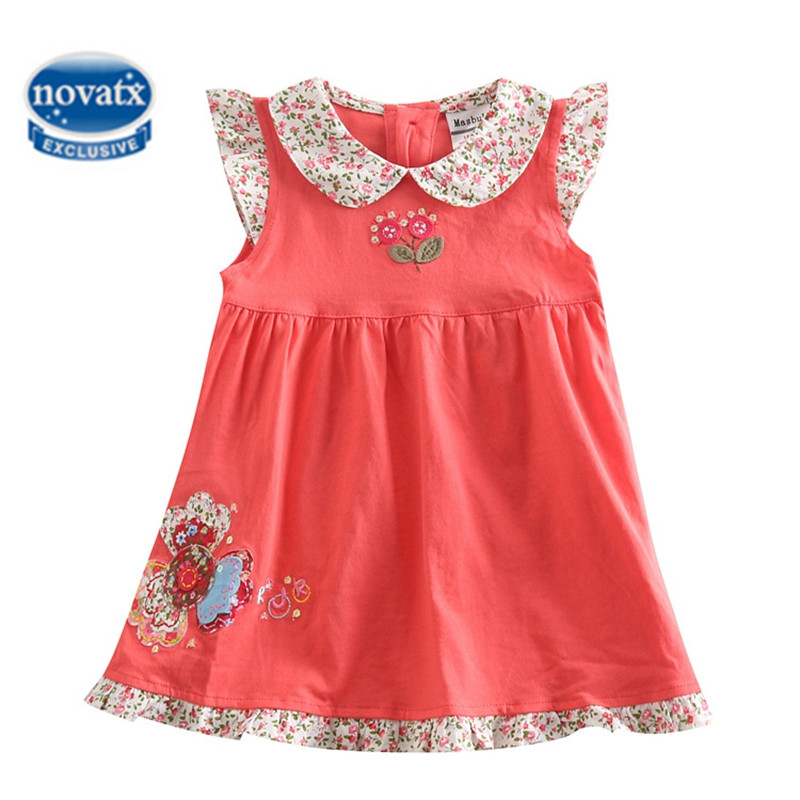 Подробнее о NOVATX dresses for girls summer children clothing flowers girl dress casual sleeveless party dress robe fille enfant H4980 robe fille 8 ans baby girl dress children clothing party casual princess dress girl for girls clothes kis dresses summer 2017