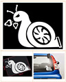 New Tail Snail Funny Cartoon Car Stickers Jdm Decal Auto Truck Styling Accessories for Ford Focus 2 Alfa Romeo Opel Mokka