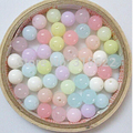 6/8/10/12/14mm Mixed Color Rondelle Loose Acrylic Beads Gumball Bubblegum Spacer Beads DIY Jewelry Accessories  (100g/lot)
