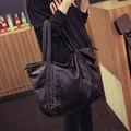 Mulheres Faux PU LEATHER Shoulder Tote Bag Grande Capacidade Ocasional Senhoras Da Forma de Lazer Mensageiro Crossbody Sacos de Grande Bolsa