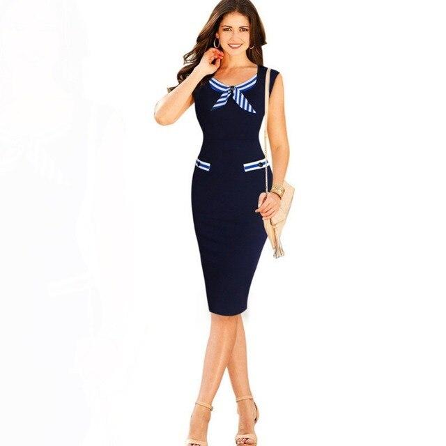 Knielang Kleid Bleistift Aussehen Sexy Mantel Kleider Bodycon Büro qSVzUMjLpG