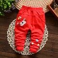 Nueva Marca de Ropa de Bebé de Primavera y Otoño Pantalones Largos pantalones Casuales Pantalones de Algodón Animal de la Historieta Para Niñas y Niños