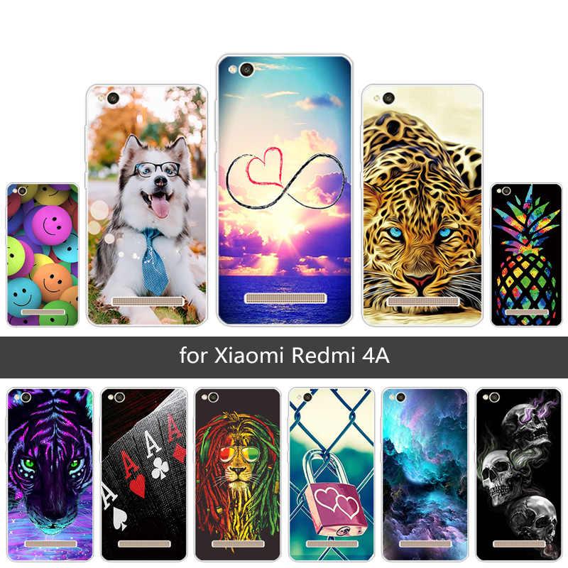"""กรณีสำหรับ redmi 4A ซิลิโคนอ่อนปกหลังแฟชั่นทาสีสำหรับ Xiaomi redmi 4 5 """"Capa Ultrathin clear TPU Shell"""