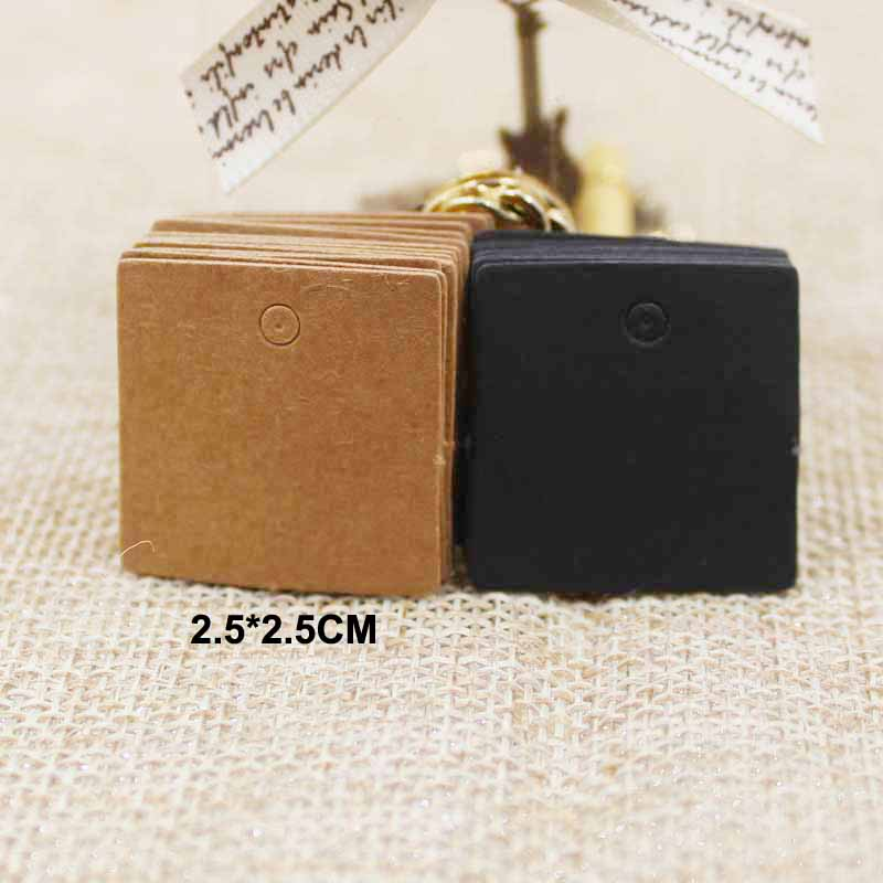 100pcs 2.5*2.5cm Small Size Square Clothes Kraft /black/white Paper Hang Price Tag Event Present Card Paper Label Bookmark
