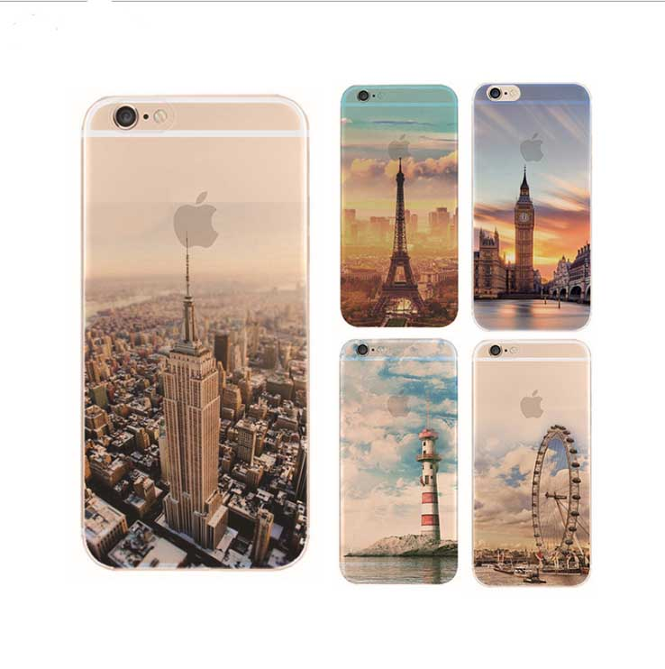 Contracted aestheticism painting scenery For iphone 5 5C SE 6 plus 7 7plus following Hard plastic