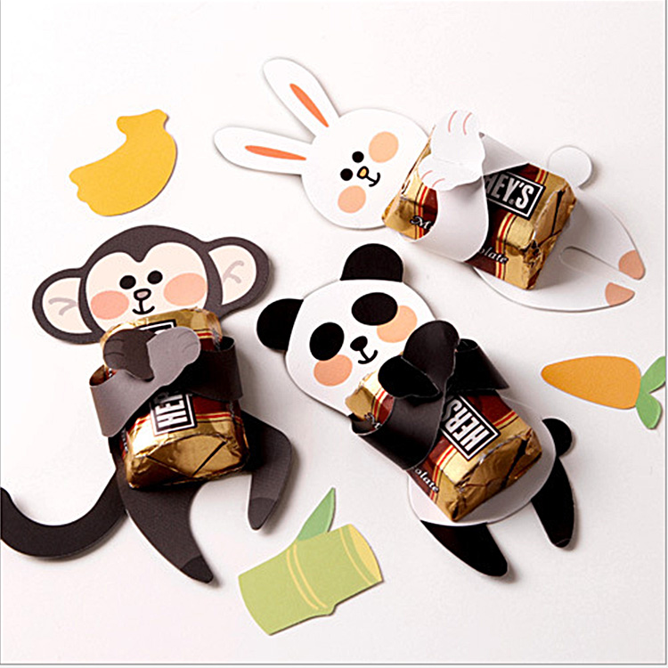 24PC Cute Safari Animal Lollipop Candy Cake Box Decoration Baby Shower Favor Birthday Wedding Christmas Halloween Anniversary