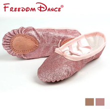 2017 New Kids Ballet Dance Shoes Split Soles Dancing Slippers Girls Flat Yoga Shoes Gym DanceSport Shoes Kids All Size