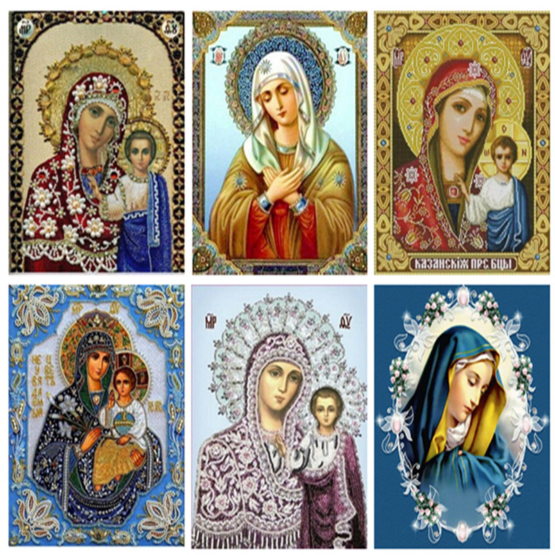 Religious DIY diamond painting icon full Square dirll inlaid 5D diamond embroidery religion fashion cross stitch home decoration
