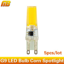 5pcs G9 LED Bulb Corn Spotlight AC 220V 230V 240V 3W 360 Beam Angle COB Chip Replace 30/40W Halogen Lamp