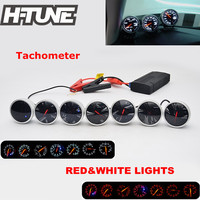 H TUNE 2.5inch 60mm DF BF Universal Auto Tachometer Gauge Meter with Red&White Light Color