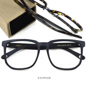 Image 3 - HDCRAFTER Women Men Vintage Retro Wood Glasses Frame Oversized Optical Eyaglasses Frames for Prescription Lens Spectacles