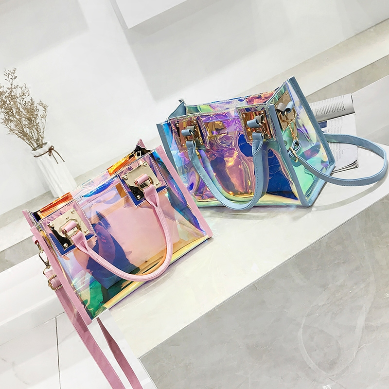 Yuhua, 2019 New Women Handbags, Fashion Composite Bag, Trend Woman Messenger Bag, Korean Version Laser Shoulder Bag.