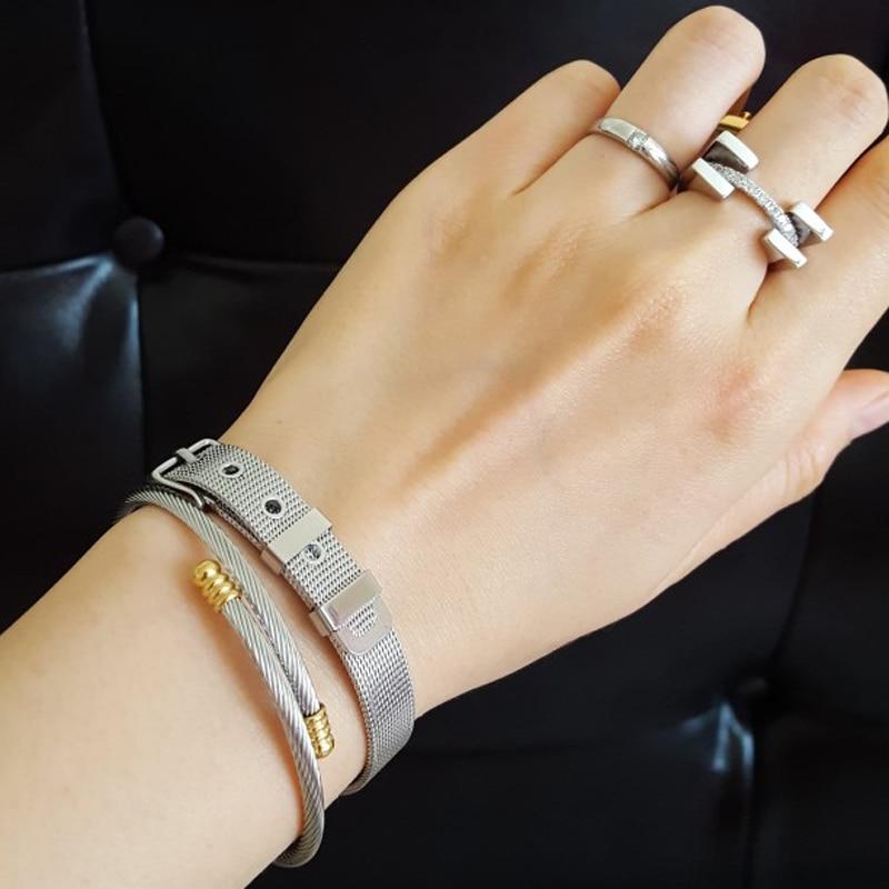 Modni nakit Srebrni prsten za žene Kubični cirkonij kamen Dame - Modni nakit - Foto 6