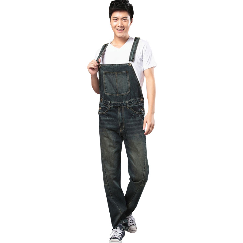 Free Shipping 2017 New Denim Overalls Men, Trousers Suspenders, Plus Size Denim Jumpsuit, s m l xl 2xl 3xl 4xl free shipping 2016 plus size denim bib pants halter neck jumpsuit and rompers for women suspenders jeans ol straight trousers xl