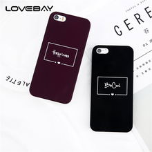 Lovebay Phone Case For iPhone 5 5s SE 6 6s 7 8 Plus X Fashion Cartoon Letter Be Cool Happiness Hard PC For iPhone 5S Phone Case