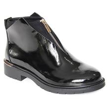 XAXBXC 2019 الرجعية البريطانية الشتاء الأسود بولي Leather الجلود سستة البروغ قصيرة حذاء من الجلد الدافئة النساء الأحذية اليدوية سيدة أحذية غير رسمية