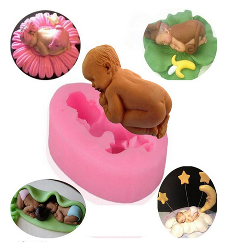 font b Baby b font Infant Silicone Cake Molds Cake Decorating Jelly Mold Fondant Chocolate