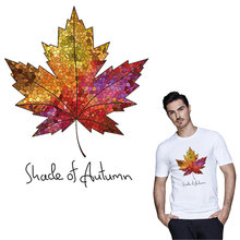 Canada Maple Leaf iron on A-level patches for DIY T-shirt Thermal transfer stickers for clothing decoration printing washable canada maple leaf iron on a level patches for diy t shirt bags accessory decoration applique badge sticker patches washable