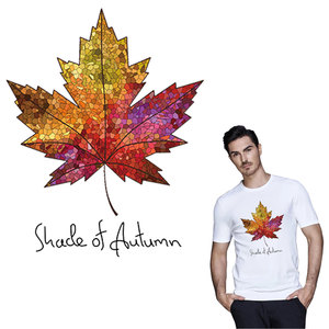 Canada Maple Leaf iron on A-level patches for DIY T-shirt Thermal transfer stickers for clothing decoration printing washable(China)